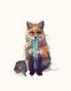 Fox Art Print by Amy Hamilton   Society6