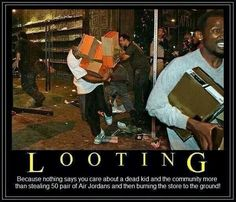 Looting:Easy when you're used to getting things for nothing! How about a free jail cell?