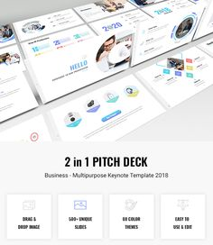 Bundle 2 in 1 Pitch Deck - Multipurpose #Keynote Template 2018 - Business Keynote Templates
