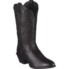 The West is home, and these are its boots. They feature a classic R-toe for a spirited look steeped in Cowgirl country tradition. An elegant stitch pattern, dress rubber sole, and the comfortable ATS™ footbed make this a wonderful boot for a day, or night, on the town.