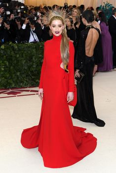 Met Gala 2018: Amber Heard - pageantry and performance on the red carpet – in pictures - Photo by David Fisher/REX/Shutter stock