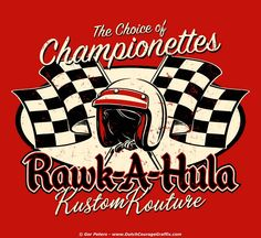 """Championnettes"" T-shirt design #hotrod #hot #rod #wear #vintage #artwork #Tshirt #design"