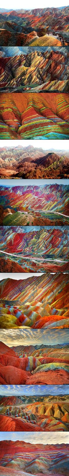 Rainbow Mountain located in China | Rainbow Mountains In China's Danxia Landform ... | Dream Vacations
