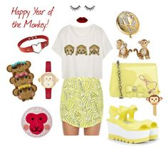 """Today's coord: chinese new year!"" by princesse-raya on Polyvore featuring mode, claire's, Darling, CHARLES & KEITH, Betsey Johnson, Kate Spade, Estée Lauder, SteamCream, women's clothing et women"