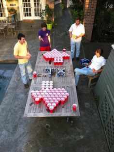 Texas beer pong. So doing this.