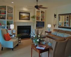 Family Room +small+fireplace Design, Pictures, Remodel, Decor and Ideas - page 7