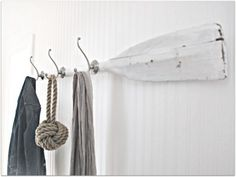 garderobenständer DIY selber bauen recyceln nautisch