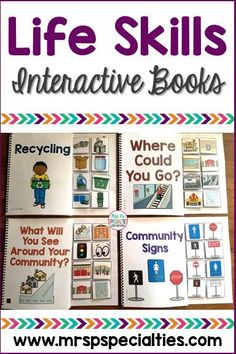 My students learn these crucial life skills better when they use these interactive (adapted) books. My special education students really love all of the hands on activities and chances to participate. I really like that they are learning skills they will need life long.