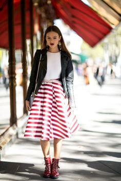 Street fashion: Paris Fashion Week wiosna-lato 2016, fot. Imaxtree
