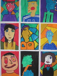 Kubistisia kasvoja, 6.lk