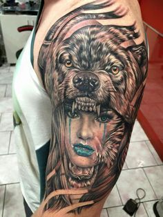 Want this but with a panther. Headdress tattoo
