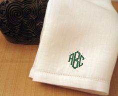 Mens Handkerchief Mens Monogrammed Handkerchief by cre8ivgifts