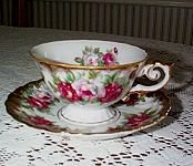 Ucagco Roses Tea Cup and Saucer
