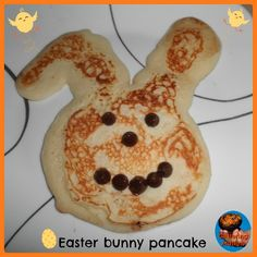 Easter bunny and eggs pancakes #baking #easter #pancakes