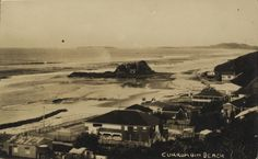 Currumbin Beach and Elephant Rock, with Point Danger in the background, Gold Coast, Queensland, ca. 1923