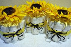 diaper centerpieces. but in blue, green and brown.#Repin By:Pinterest++ for iPad#
