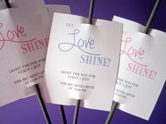 Let Love Shine/ Sparkler Sendoff Tags/ by LollipopsAndPussycat, $15.00
