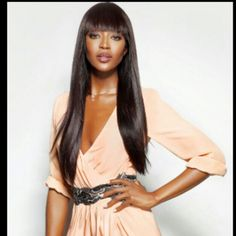 #naomicampbell stunning as ever!! Get the 'brazilian straight' off the website shop for this look... www.hairextensionaires.com