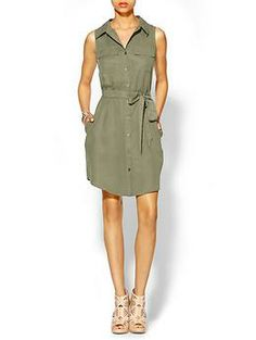 Hive & Honey Military Shirt Dress   Piperlime