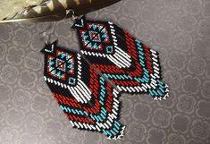 Beaded Earrings Native Earrings Dangling Earrings Long