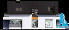 Proiect de casa cuparter, mansarda,garaj si terasa de vara-100802 | | Proiectari si Constructii Facade House, House Facades, Design Case, Garage Doors, New Homes, Exterior, House Design, House Styles, Outdoor Decor