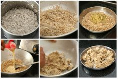 Making fried modak stuffing