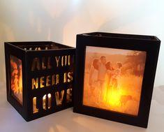 Set van twee foto lantaarns