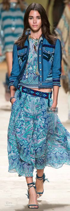 Long Layered Skirt, Beaded Belt, Short Haute Hippy Jacket