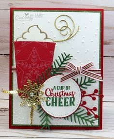 stampin up christmas cheer cardiologybyjari christmas cards 2017 christmas mugs stampin - Christmas Photo Cards 2017