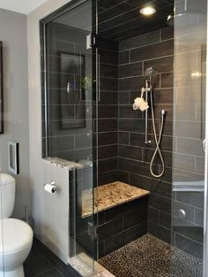 Love the tile on the walls and the floor of the shower