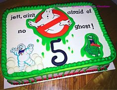 Ghostbusters Cake, Ghostbusters Edible Image, Ghostbusters Party Supplies, Ghostbusters Birthday Cake