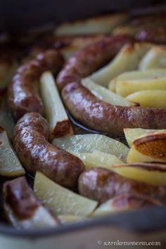 Toulouse-i kolbász - a szerecsendiótól a kolbásznak elegánsan csípős íze lesz Toulouse, Hungarian Cuisine, Arancini, Food 52, Sausage, Bacon, Yummy Food, Meat, Posts