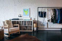 The Black Workshop   clothing rail   vinyl storage