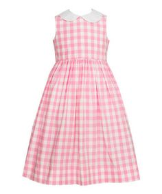 so cute for a little girl spring session Pink Gingham A-Line Dress - Infant, Toddler & Girls #zulilyfinds