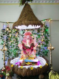 20 Best Ganpati Decoration Themes Images Festival Decorations