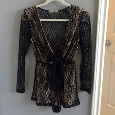 LF Lace Romper Such a sexy statement piece. Easy to put on for a night out and you'll look effortlessly sexy and cute. LF romper by Mika and Gala size 6, worn one for a few hours and it's still in perfect condition. Open back and arms LF Other