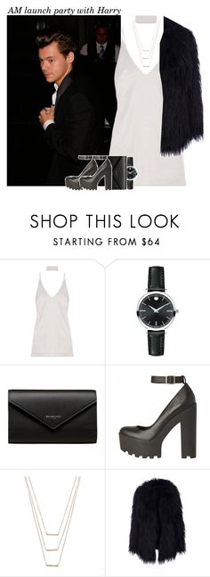 """""""869 • AM launch party with Harry"""" by queenxxbee ❤ liked on Polyvore featuring James Bond 007, Movado, Balenciaga, ERTH, OneDirection, harrystyles and anotherman"""