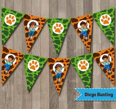 Diego Banner, Diego Party, Diego Printable Bunting