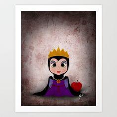 Villain Kids, Series 1 - Evil Queen Art Print by Joe Alexander - $20.00