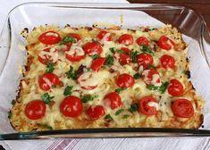 Zapekaný karfiol, Delená strava - recepty, recept | Naničmama.sk Vegetable Recipes, Vegetable Pizza, Delena, Low Carb Keto, Couscous, Quiche, Cooking Tips, Food And Drink, Meals