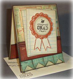 Graduation Card -- Congrats Grad Handmade Graduation Card. $5.00, via Etsy.