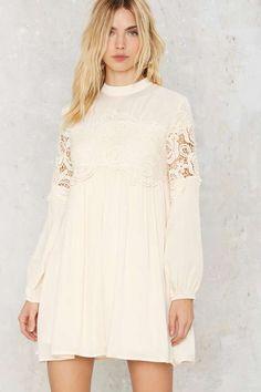 Elisha Crochet Lace Shift Dress - The Romantics