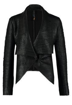 Freaky Nation CLEO Kurtka skórzana black 1,359.00zł #moda #fashion #women #kobieta #freaky #nation #cleo #kurtka #skórzana #black #czarny #duży #dekolt #damska