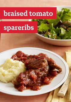 Braised Tomato Spareribs -- Ready for the slow-cooker in just 10 minutes of prep, serve this Spareribs recipe with hot cooked mashed potatoes or rice along with a green salad.