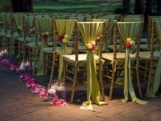 Ceremony chairs, LOVE THIS!