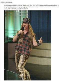 remember when hannah montana lost her voice so her brother became a rock star named bucky kentucky