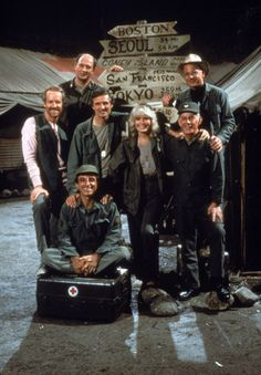 the final cast of M*A*S*H - Hawkeye, Clinger and Hot Lips are the only cast from the original.