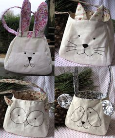 BRICOLAGE lapin chat panda chouette lapin couture sac par FruteJuce