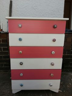 Chest of drawers for little girls room .. diy style ...
