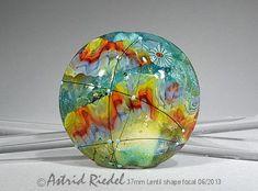 Rainbow mermaid Art Glass 37mm Focal bead lampwork von AstridRiedel